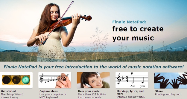 finale music writing software free
